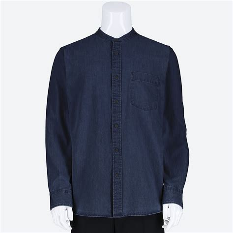 Baju Kerah Polo Uniqlo Limited uniqlo kemeja denim kerah tegak lengan panjang