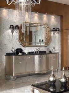 silver bathroom vanity and mirrror two wall ls