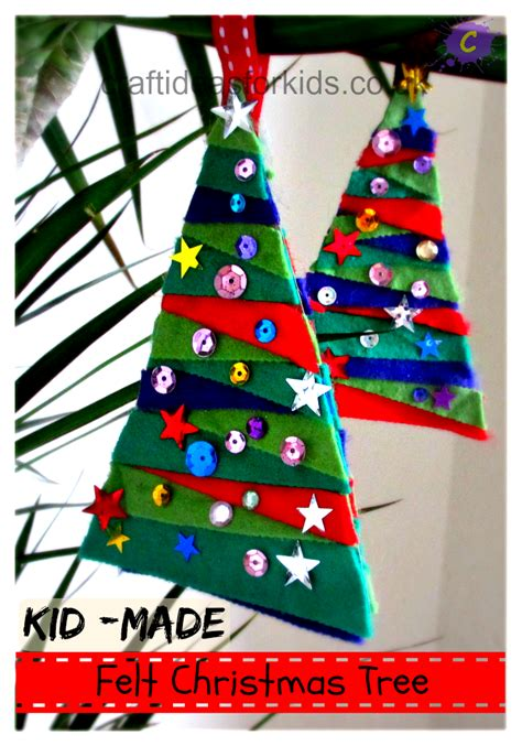 craft ideas for tree felt tree 10 days of kid made ornaments