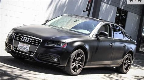 audi a4 matte black ssc audi a4 satin black vinyl wrap youtube