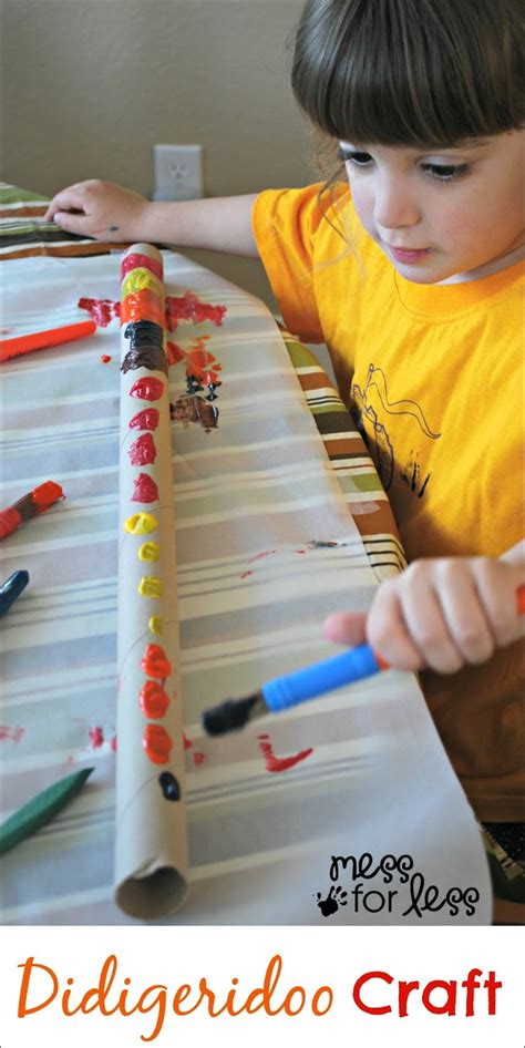kid and craft didgeridoo craft for mess for less