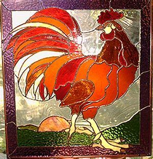 stained glass rooster l 17 best images about stained glass birds on pinterest