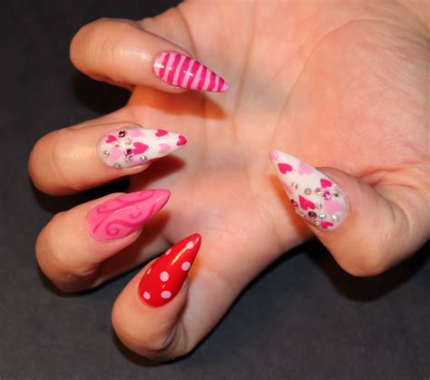 simple valentines day nails easy valentines day nails