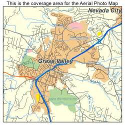 aerial photography map of grass valley ca california