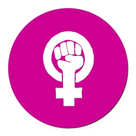 of color feminism pink feminist symbol car magnet by purpleplanet