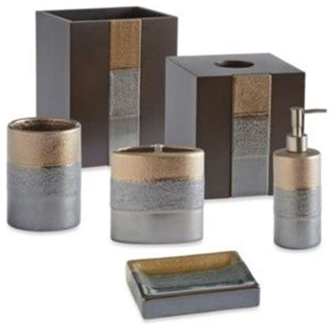 bed bath and beyond bathroom accessory sets croscill portland waste basket contemporary bathroom