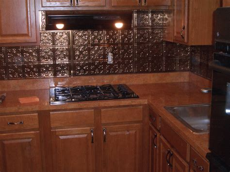 Metal Backsplash Tiles For Kitchens Metal Backsplashes For Kitchens