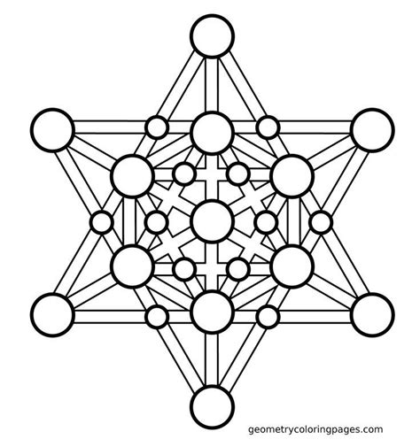 Sacred Geometry Coloring Pages Sacred Geometry Coloring Page Merkaba Sacred Geometry