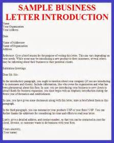 Business Letters Of Introduction Sample Business Letter Sample Business Letter Introduction