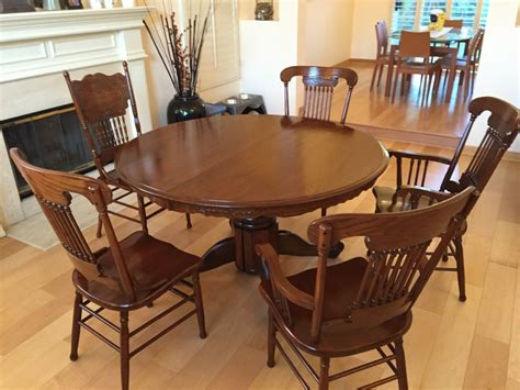 vintage craftsman style dining set  restored los