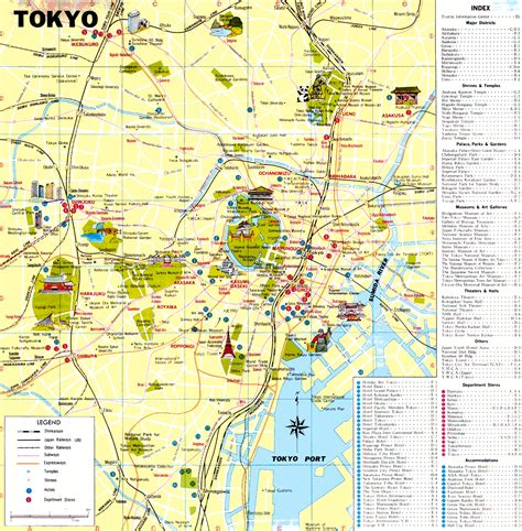 map of tourist maps update 12361258 map of tokyo tourist attractions