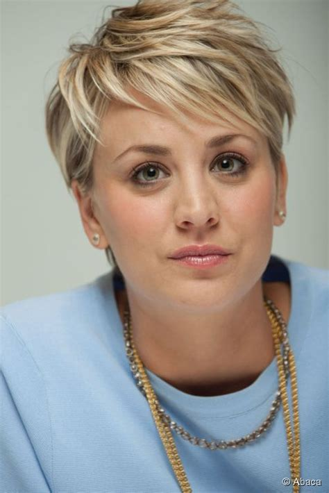 why kaley cucoo cut her hair kaley cuoco pixie cut behind kaley cuoco al press junket