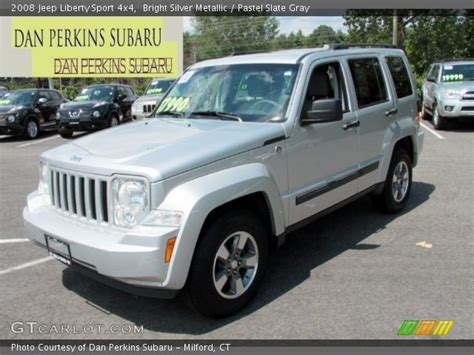 silver jeep liberty 2008 bright silver metallic 2008 jeep liberty sport 4x4