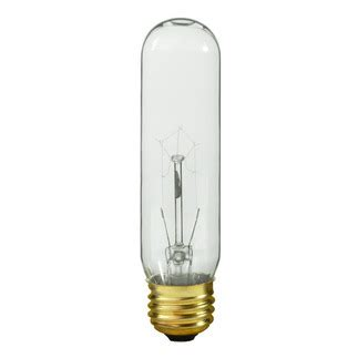led tubular picture light bulb satco s3896 60 watt t10 light bulb clear
