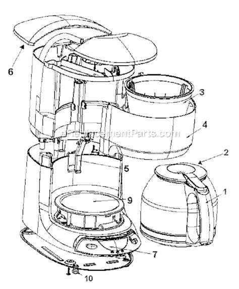 mr coffee parts diagram mr coffee plx20 parts list and diagram