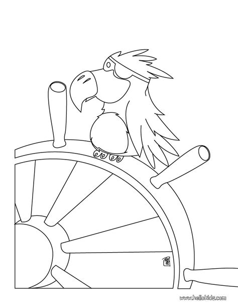 pirate parrot coloring pages hellokids com