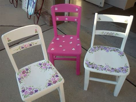 Painted Childrens Chairs by Handpainted Furniture Shabby Chic Vintage Painted