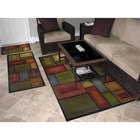 walmart rugs for living room prism 3 rug set walmart