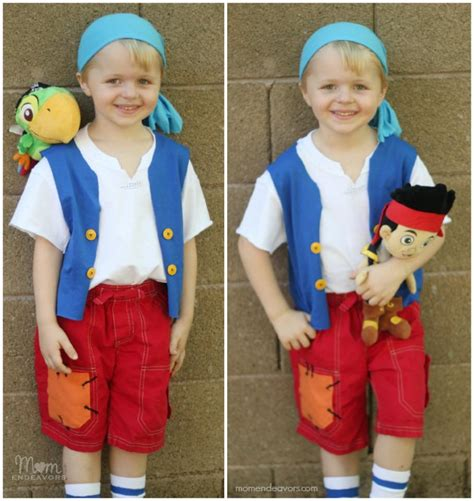 Handmade Disney Costumes - diy no sew jake and the never land cubby costume