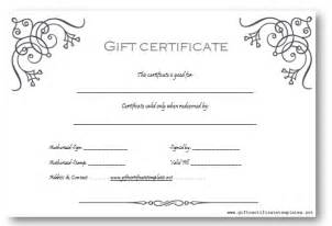 gift certificate template word business gift certificate template