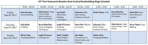 port townsend wooden boat festival schedule events calendar