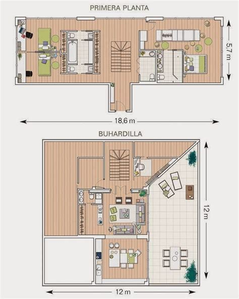 Duplex Plan Plan D Un Duplex Sous Combles