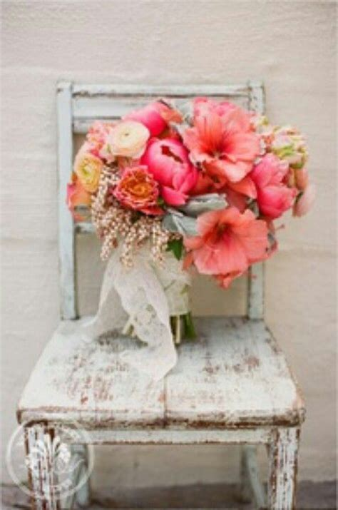 shabby chic flower arrangement bouquets pinterest