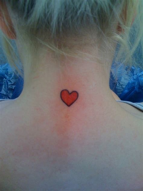 red heart tattoo designs 35 stunning neck tattoos