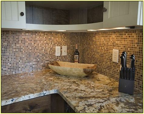 small mosaic tile backsplash home design ideas