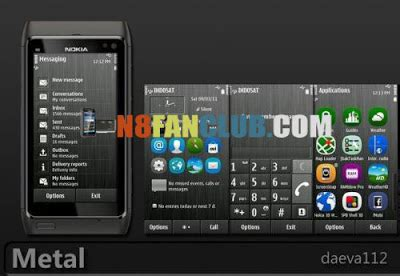 nokia 5233 belle themes metal s 3 anna belle theme with upsized anna icons