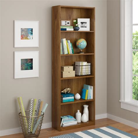 kmart 5 shelf bookcase dorel home furnishings bank alder 5 shelf bookcase