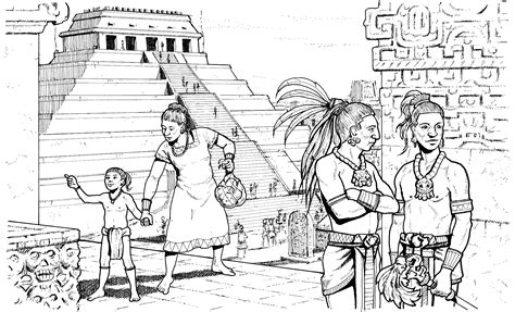 Mayan City Coloring Page Tapestry Of Grace Year 1 Mayan Coloring Pages