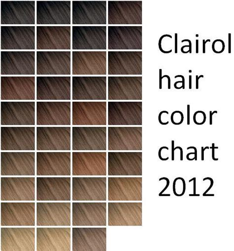 clairol color chart clairol hair color shade chart clairol n easy hair
