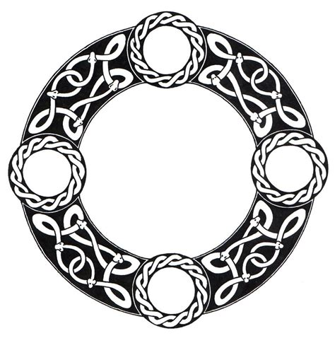 circle tattoo design celtic circle scandinavian knot circle by