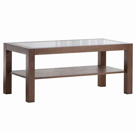 table glass coffee table with wood base cabin