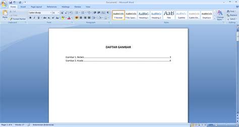 membuat daftar pustaka otomatis pada word cara membuat daftar gambar otomatis pada microsoft word