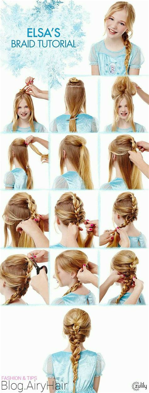 frozen elsa hair tutorial disney s braid hairstyles for wedding step by step disney frozen elsa anna step hair tutorials