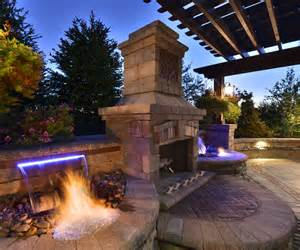 Outdoor Gazebo Plans With Fireplace - outdoor fireplace with water feature http lomets com