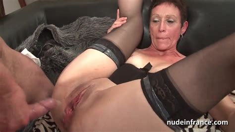 Horny French Mature Deep Throat And Hard Banged And