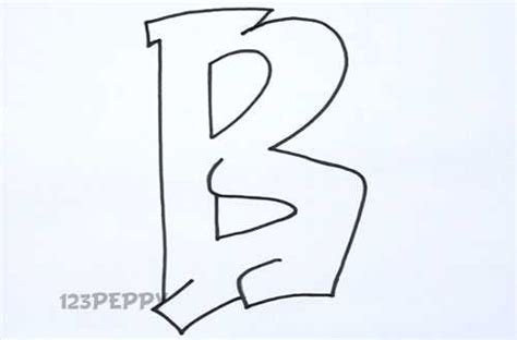 Drawing B Letter by How To Draw Alphabets Tutorial 123peppy