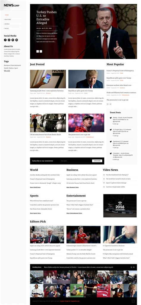 Newscorp News Magazine Portal News Html Template