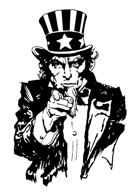 uncle sam i want you coloring page coloriage oncle sam img 11363