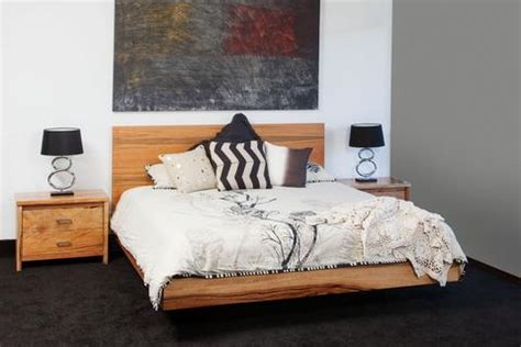 Contemporary milan marri timber floating bed bespoke furniture gallery perth