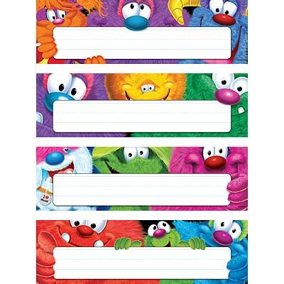 printable monster name tags classroom desk toppers name plates furry friends