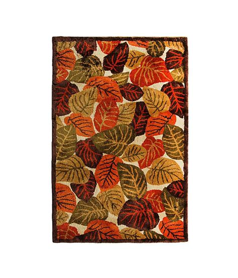 Riva Carpets Orange And Green Natural Autumn Leaves Area Orange And Green Area Rugs