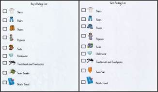 printable packing list for boys and girls the gunny sack