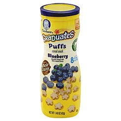 Gerber Puffs Graduates Cereal Snack Baby Blueberry 42 Gram baby food