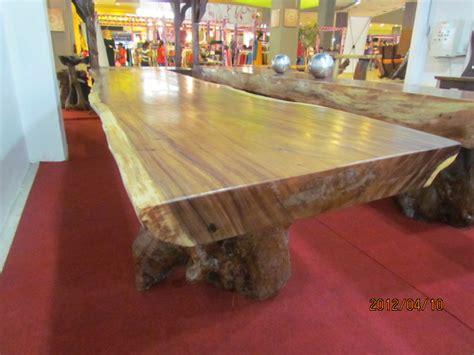 Meja Kayu Kelengkeng meja trembesi solid dan alami 5mx1mx12cm crown
