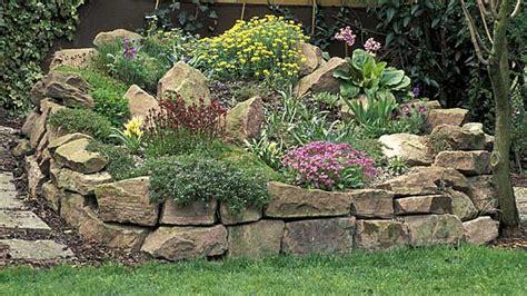 gartenbilder gestaltung steingarten anlegen passende steine und steingartenpflanzen