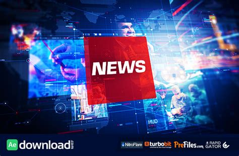 templates after effects news news pro videohive project free download free after